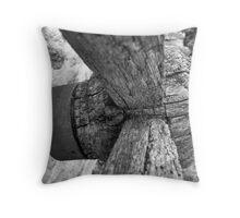Wooden Cartwheel Throw Pillow