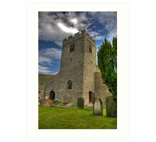 Dent Church Tower - Dent Art Print