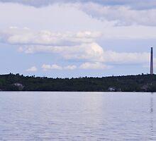 Whitewater Lake - Smokestack by Janet Young