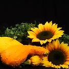 Sunflowers and Squash by Trudy Wilkerson