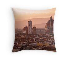 Florence skyline at sunset Throw Pillow