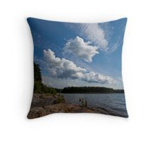 Another Cloudy Summer Day... Throw Pillow