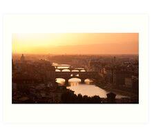Florence skyline at sunset Art Print