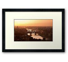 Florence skyline at sunset Framed Print