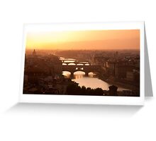 Florence skyline at sunset Greeting Card