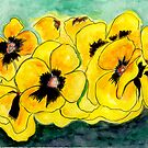 Yellow Pansies by Anne Gitto