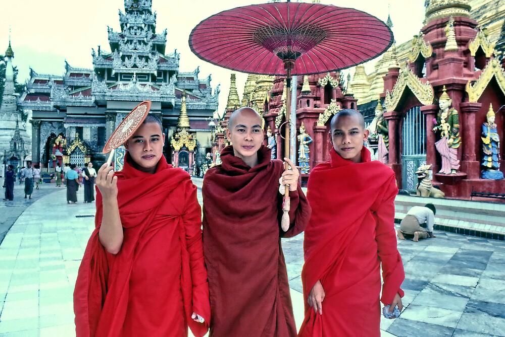 Shwedagon Pagoda, Rangoon, Burma by John Spies