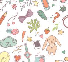 Cute traveling pattern Sticker