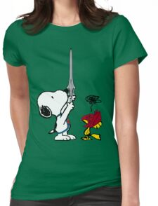 He-Dog and Battle Bird Womens Fitted T-Shirt