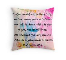 Coming Down Out of Heaven  Throw Pillow