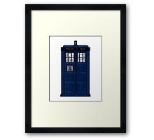 Doctor Who TARDIS Words Print Framed Print
