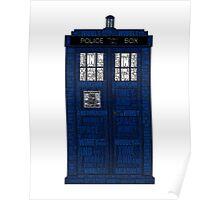 Doctor Who TARDIS Words Print Poster