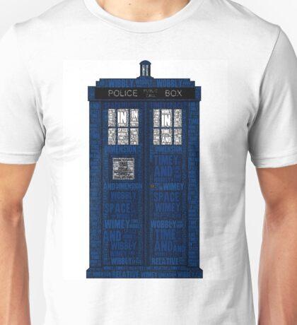 Doctor Who TARDIS Words Print Unisex T-Shirt