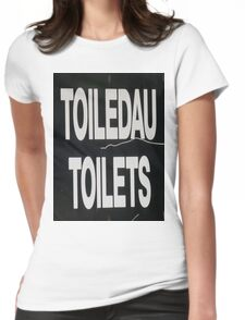 Welsh for Toilets Womens Fitted T-Shirt