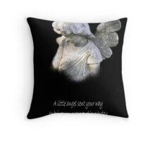 An Angel Blessing Throw Pillow