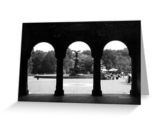 THE FOUNTAIN IN CENTRAL PARK Greeting Card