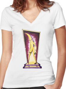 Banana: Reckoning Women's Fitted V-Neck T-Shirt