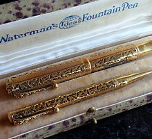 Glorious old Waterman's Pens by sstarlightss
