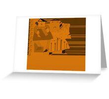 Blues band in orange set Greeting Card