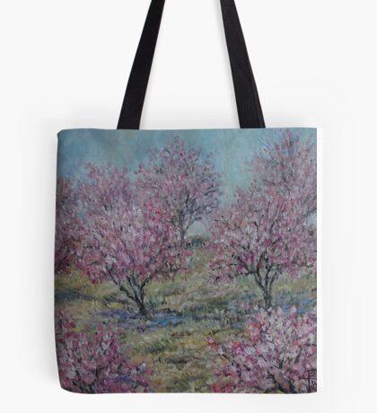 Apricot Trees Tote Bag
