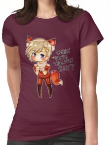 Fox Norway w/ text Womens Fitted T-Shirt