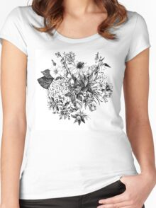 Foral composition Women's Fitted Scoop T-Shirt