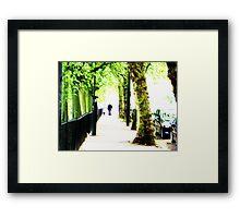 West End Dog-Walker Framed Print