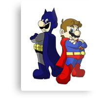 Mario Bros Super Heroes Metal Print