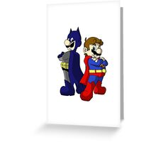Mario Bros Super Heroes Greeting Card