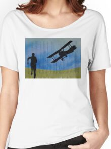 North by North West Hitchcock Homage Collage Impression Women's Relaxed Fit T-Shirt