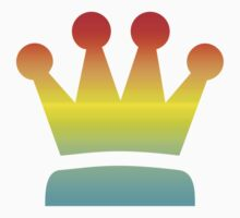 Colorful Chess Queen symbol by Smaragdas