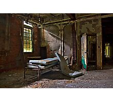 Old Hospital Bed Photographic Print