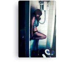 In the Shower Metal Print