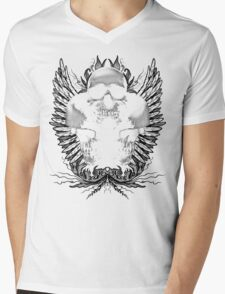 Ornate Skulls Mens V-Neck T-Shirt