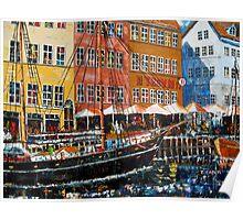 Nyhavn market #2 leftside Poster