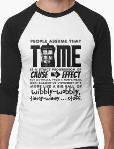 Wibbly-Wobbly Timey-Wimey...Stuff. Men's Baseball ¾ T-Shirt