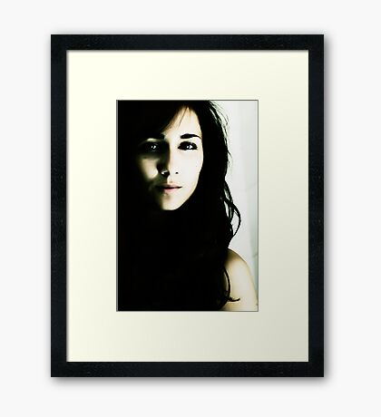 Seductive look Framed Print