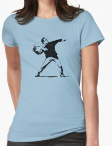 Shoe Thrower Womens Fitted T-Shirt