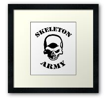 Skeleton Army Framed Print