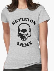 Skeleton Army Womens Fitted T-Shirt