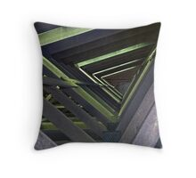 Cow Barn Rafters Throw Pillow