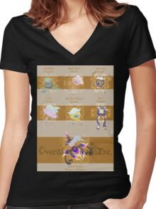 Drifloon Variations Women's Fitted V-Neck T-Shirt