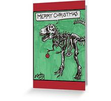 T Rex Christmas Card Greeting Card