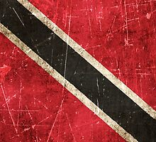 Vintage Aged and Scratched Trinidadian Flag by Jeff Bartels