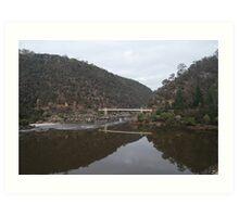 Footbridge at Cataract Gorge Art Print