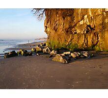 """Encinitas Beach Looking North At Sunset"" Photographic Print"