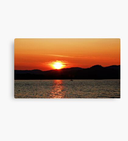 The Sunset Glow Canvas Print