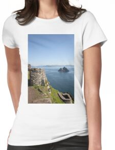 Skellig Islands Rep. Ireland. Womens Fitted T-Shirt