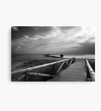 At the end of the path Canvas Print