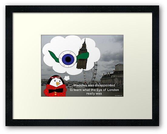 Waddles London Eye by ValeriesGallery